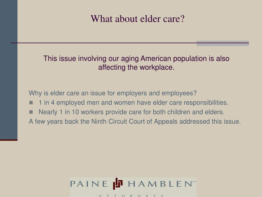 What about elder care?