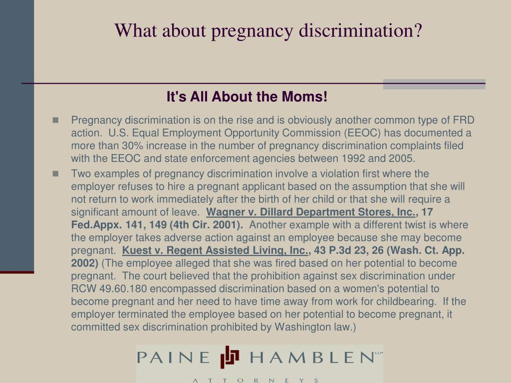What about pregnancy discrimination?