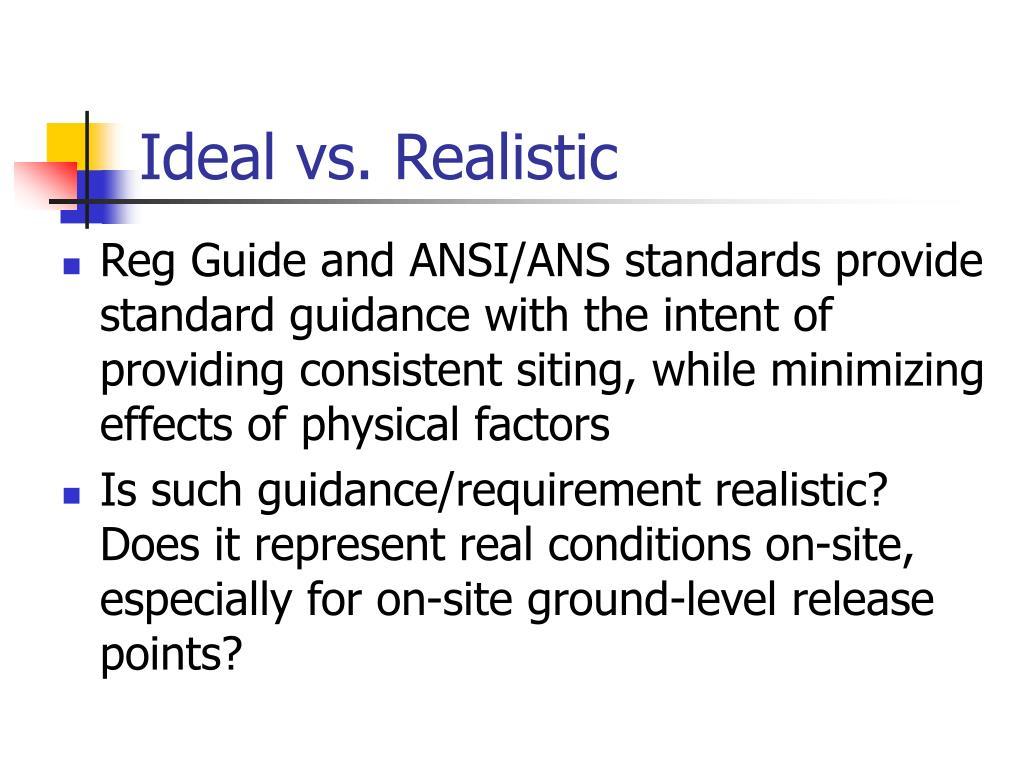 Ideal vs. Realistic