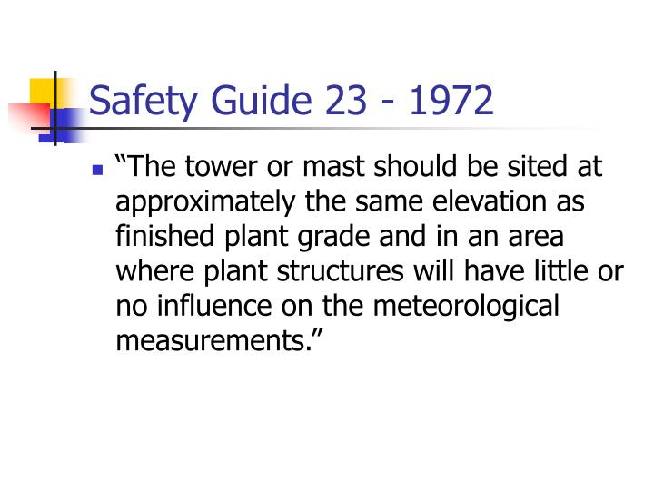 Safety guide 23 1972