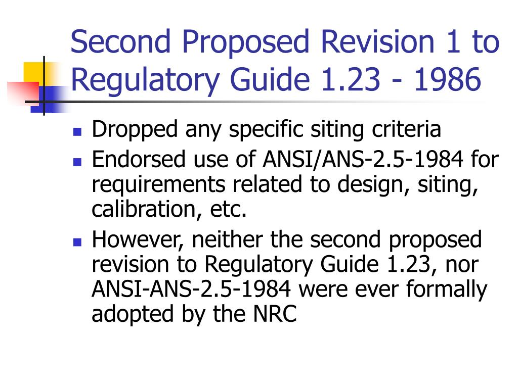 Second Proposed Revision 1 to Regulatory Guide 1.23 - 1986