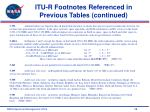 itu r footnotes referenced in previous tables continued28