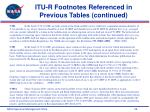 itu r footnotes referenced in previous tables continued29