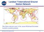 landsat 7 international ground station network