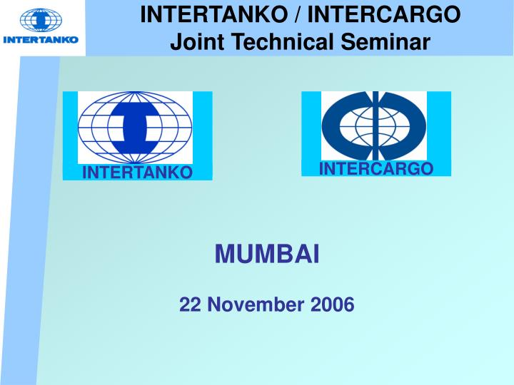 intertanko intercargo joint technical seminar n.