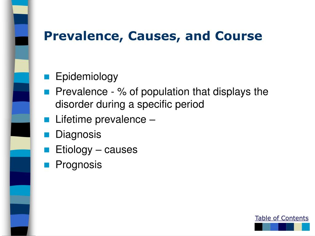 Prevalence, Causes, and Course
