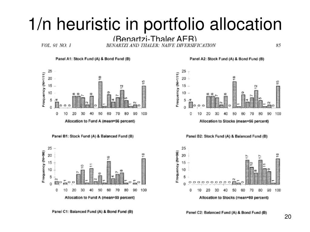 1/n heuristic in portfolio allocation
