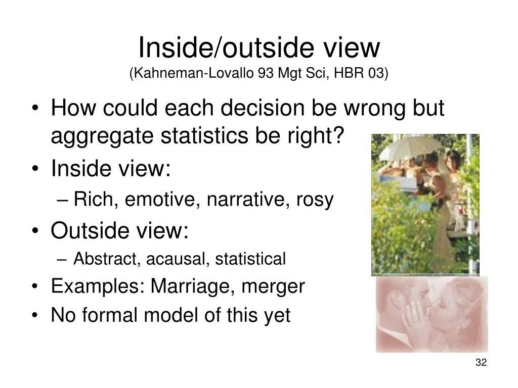 Inside/outside view
