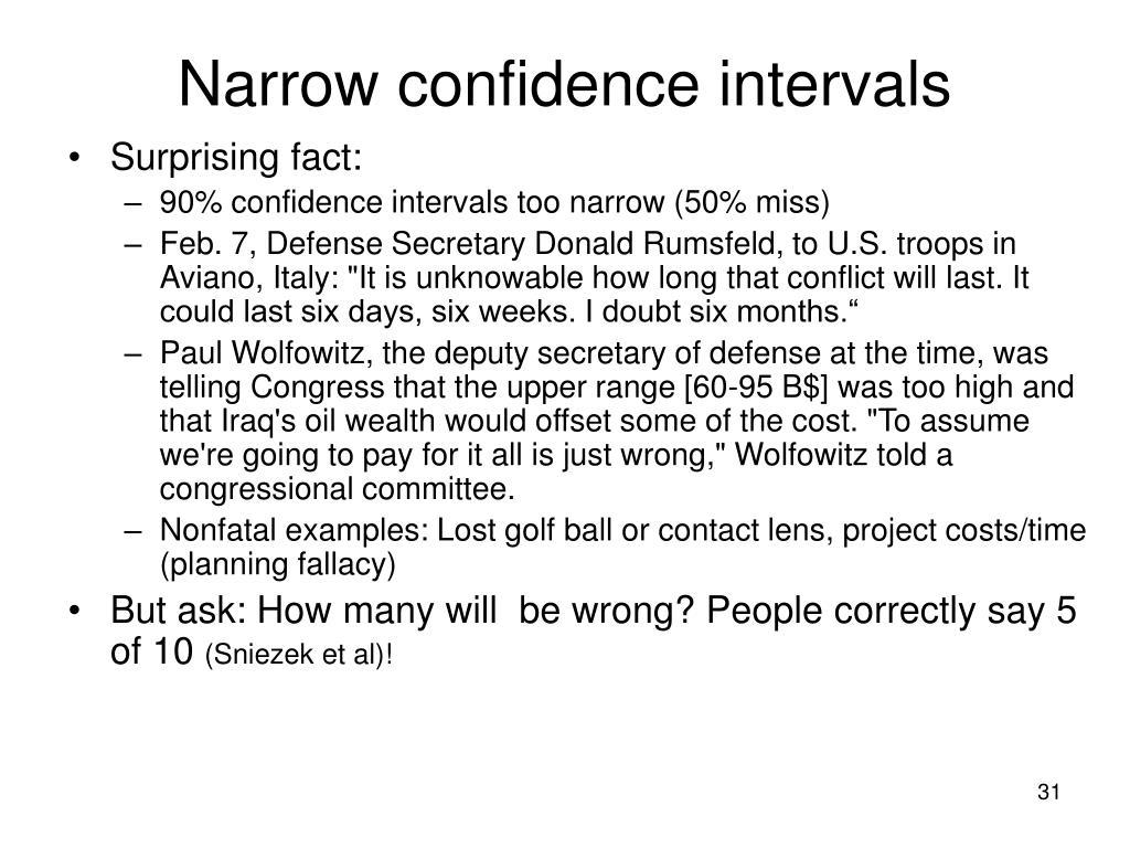 Narrow confidence intervals