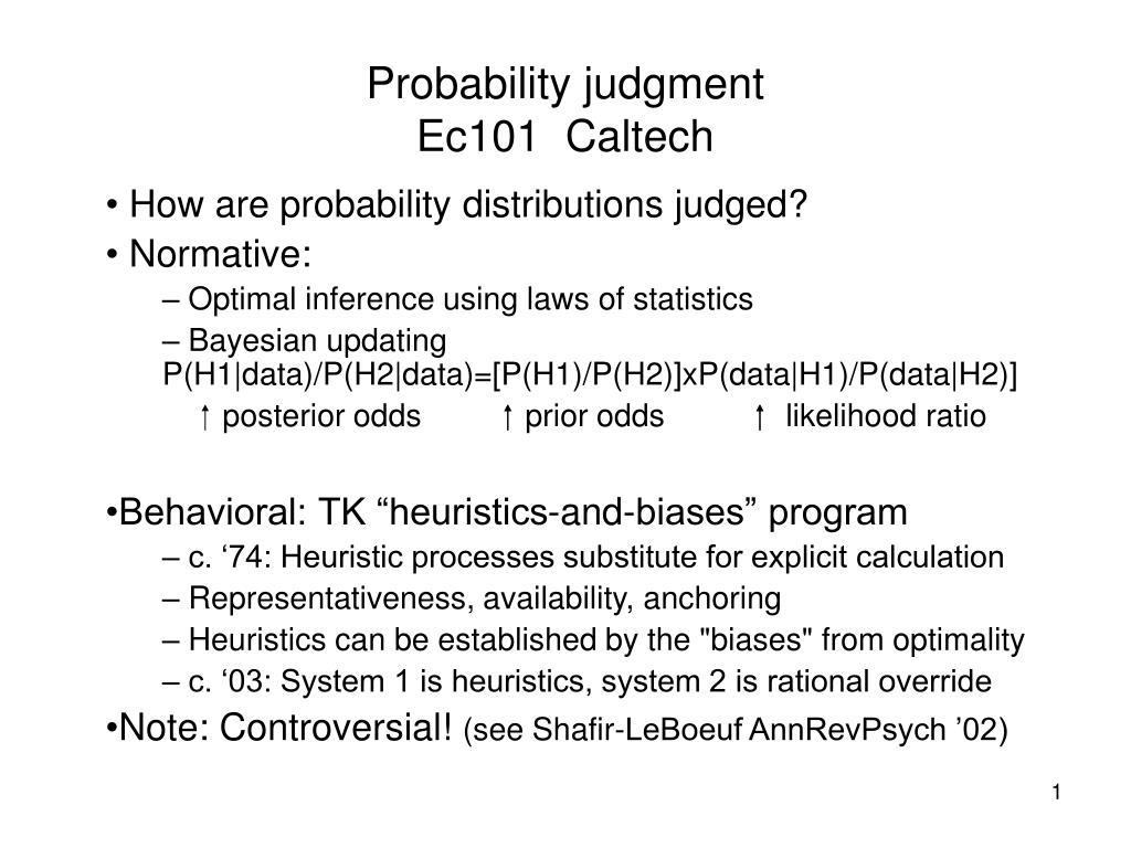 Probability judgment