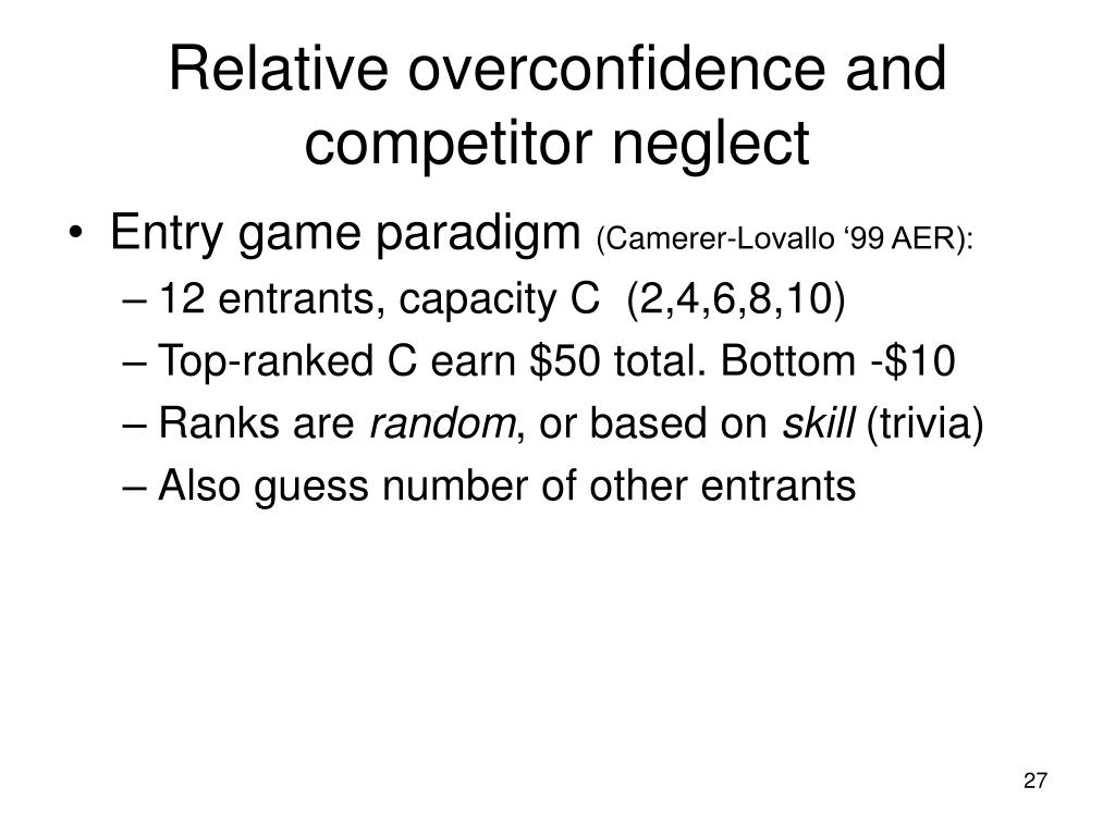 Relative overconfidence and competitor neglect