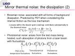 mirror thermal noise the dissipation 2