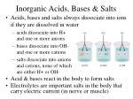 inorganic acids bases salts