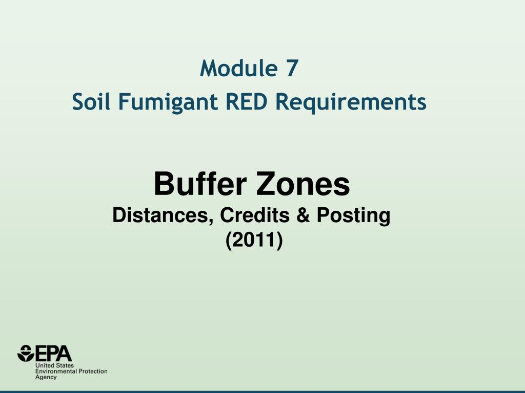 buffer zones distances credits posting 2011 l.