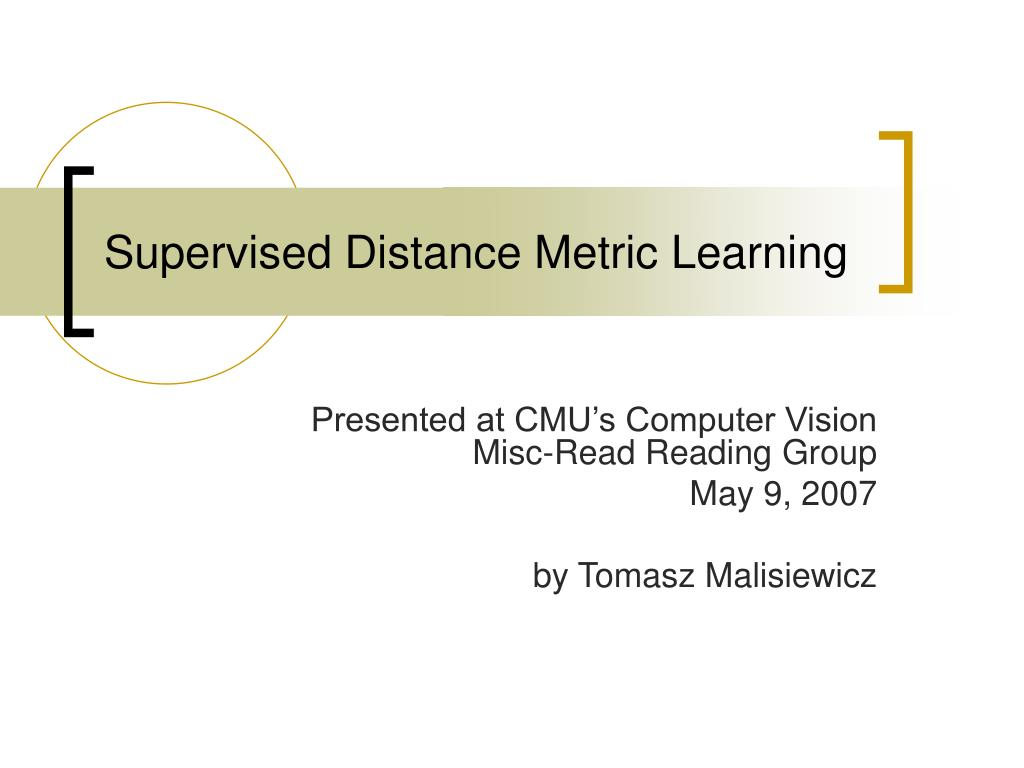 supervised distance metric learning l.