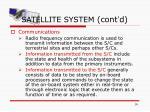 satellite system cont d18