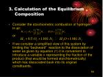 3 calculation of the equilibrium composition