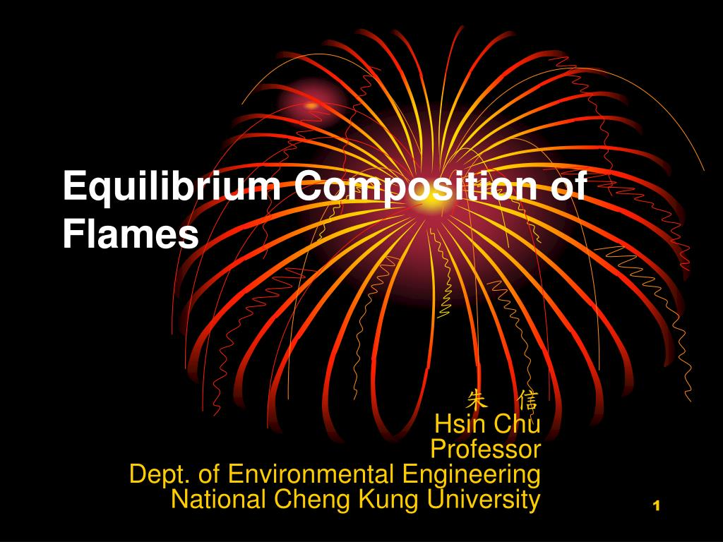 equilibrium composition of flames