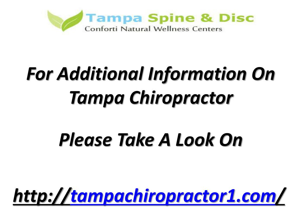 For Additional Information On Tampa Chiropractor