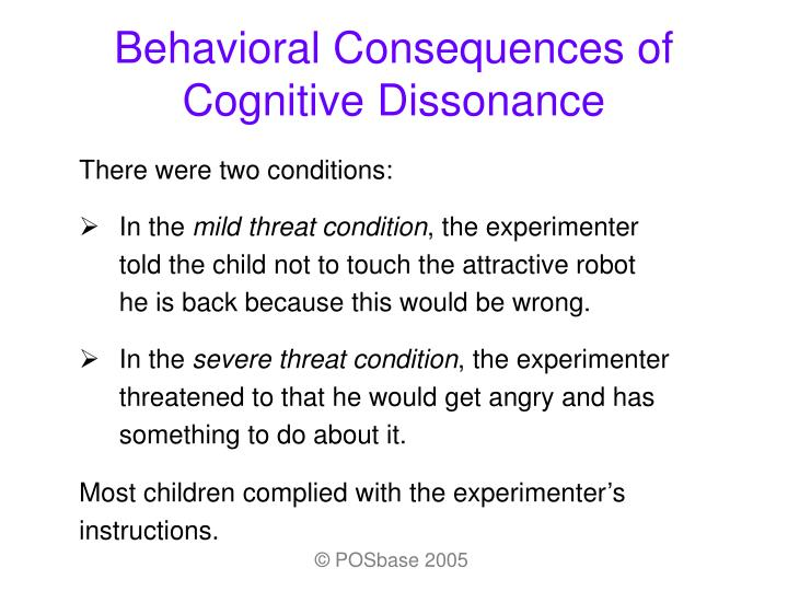Behavioral consequences of cognitive dissonance3