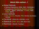 which msa method