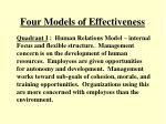 four models of effectiveness