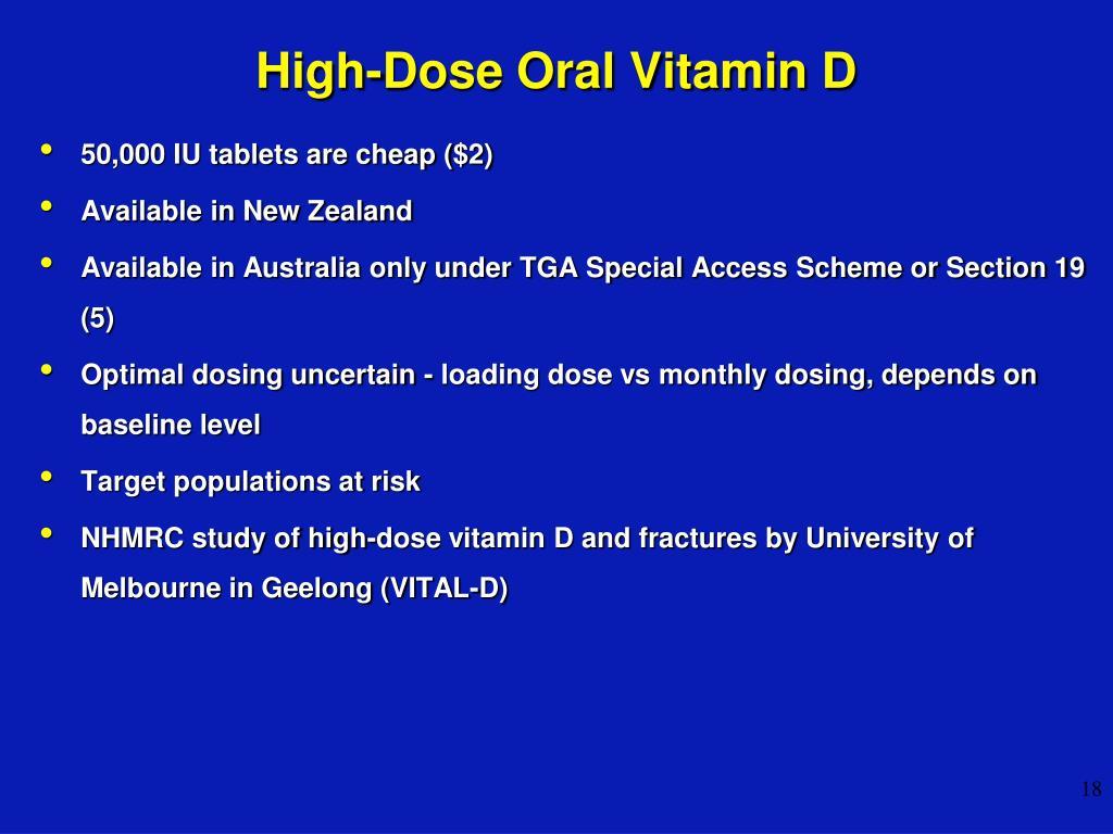 High-Dose Oral Vitamin D