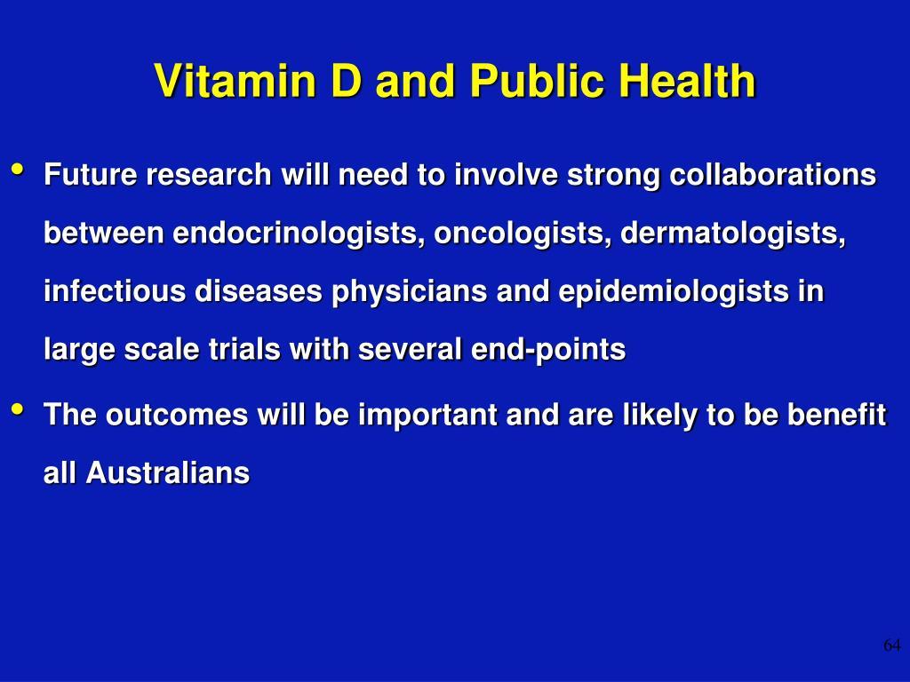 Vitamin D and Public Health