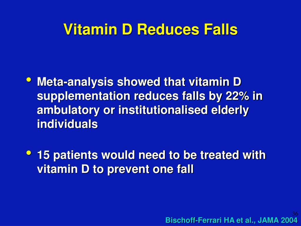 Vitamin D Reduces Falls