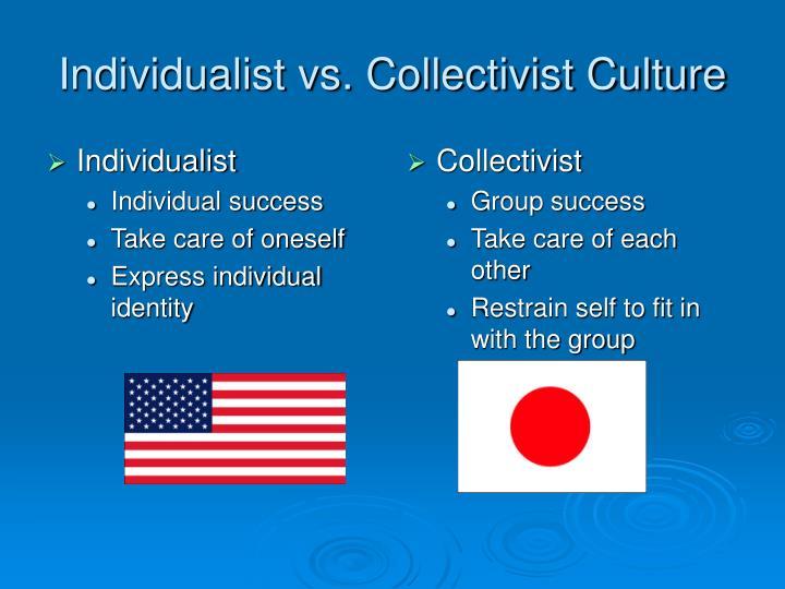 Individualist vs collectivist culture