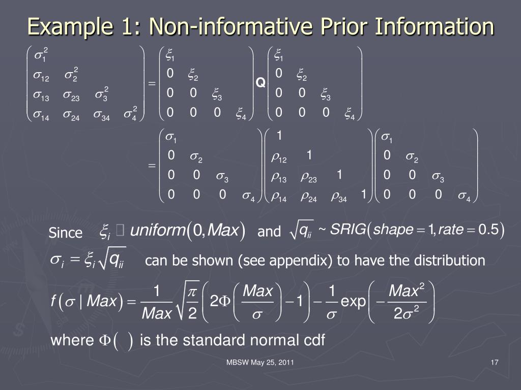 Example 1: Non-informative Prior Information