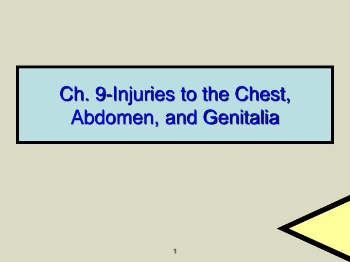 ch 9 injuries to the chest abdomen and genitalia n.