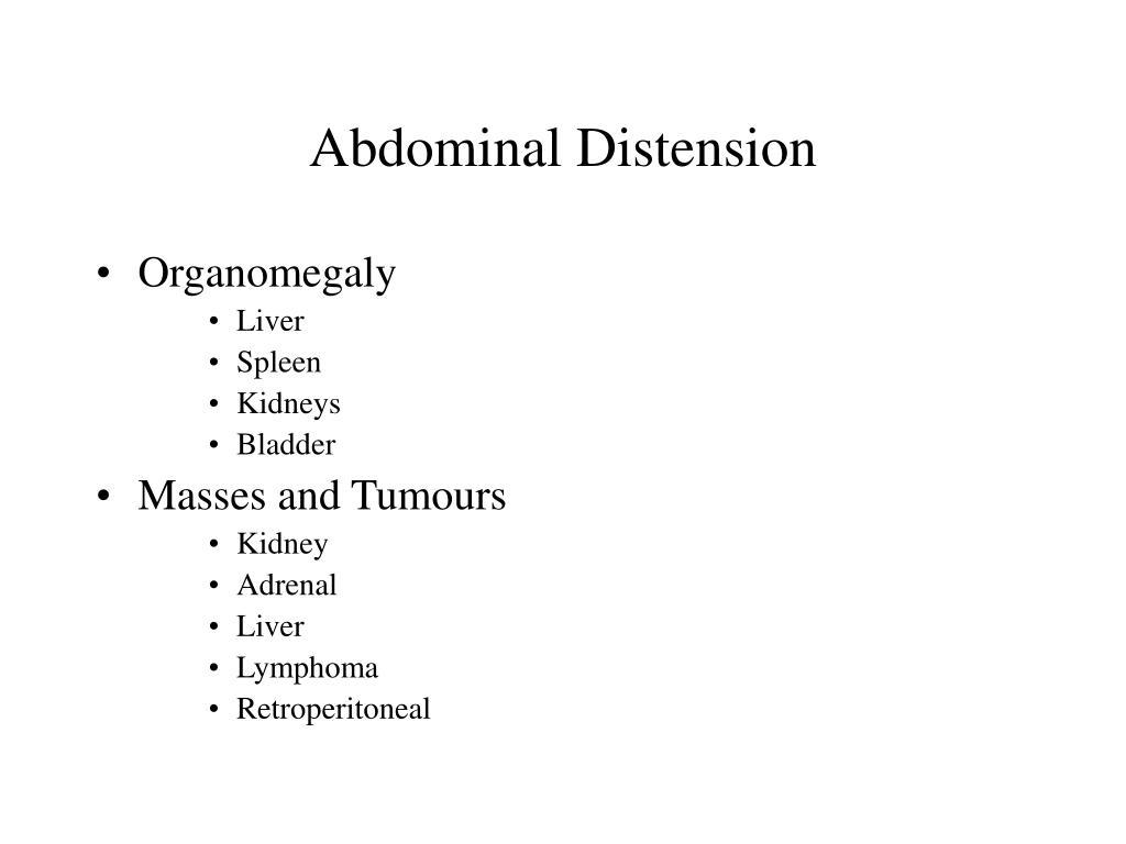Abdominal Distension
