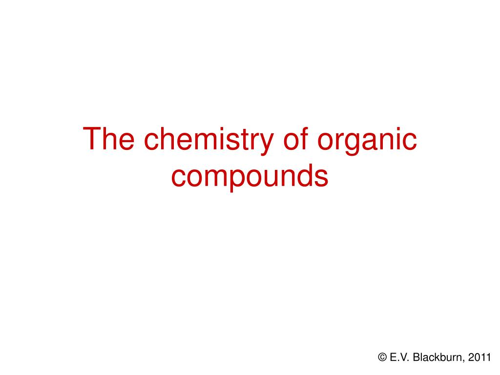 the chemistry of organic compounds l.