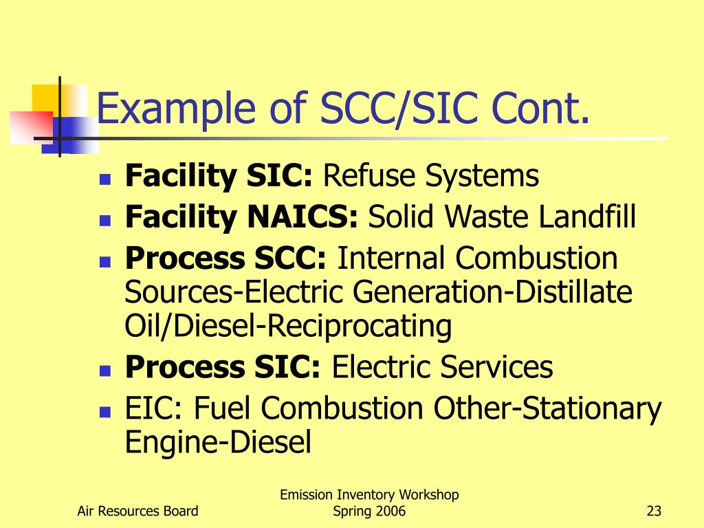 Example of SCC/SIC Cont.