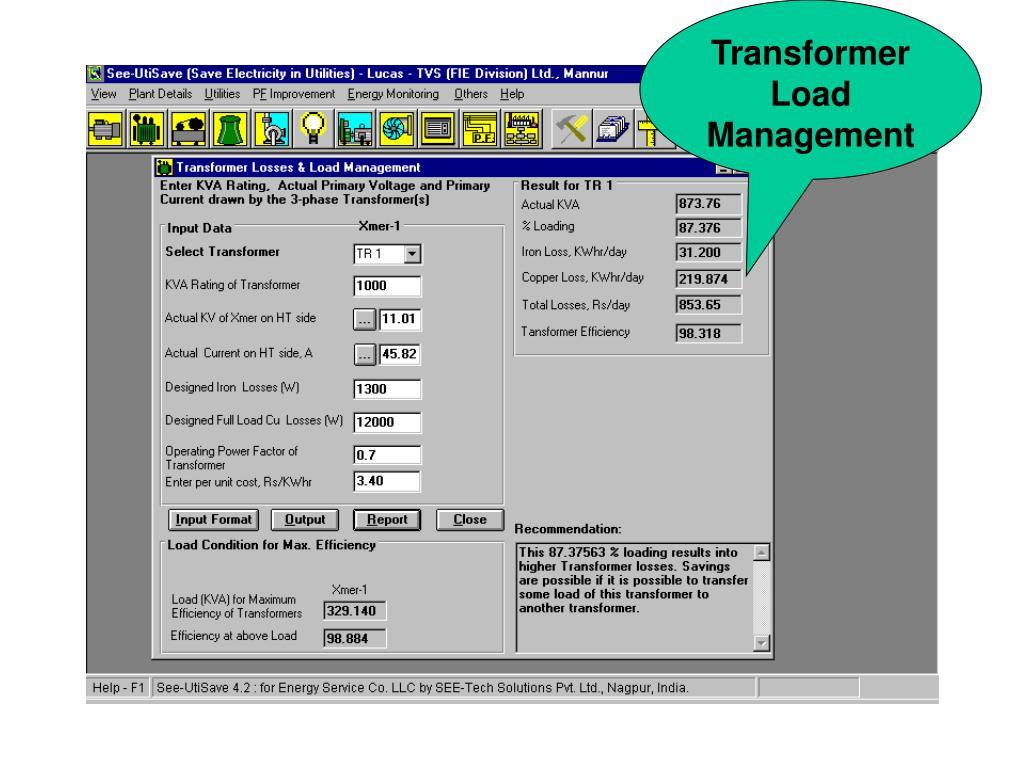 Transformer Load Management