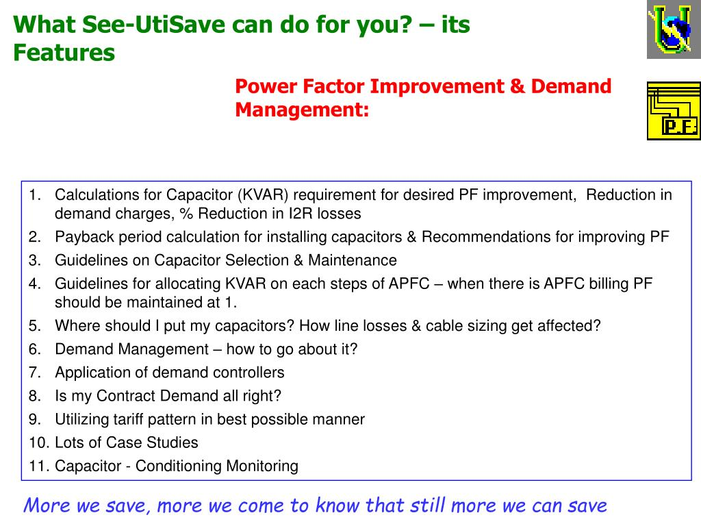 What See-UtiSave can do for you? – its Features