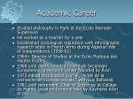 academic career