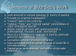 overview of bourdieu s work