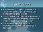 symbolic space