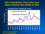 eu s contribution price is not just about volumes but quality as well