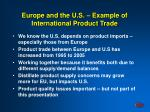 europe and the u s example of international product trade