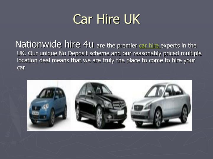 Car hire uk