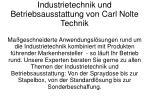 industrietechnik und betriebsausstattung von carl nolte technik