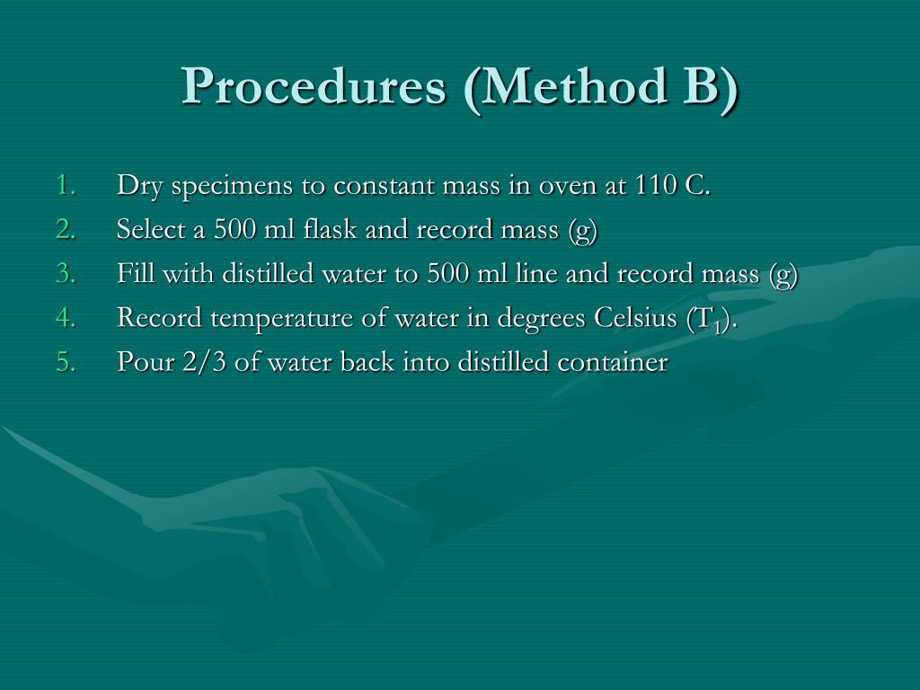 Procedures (Method B)