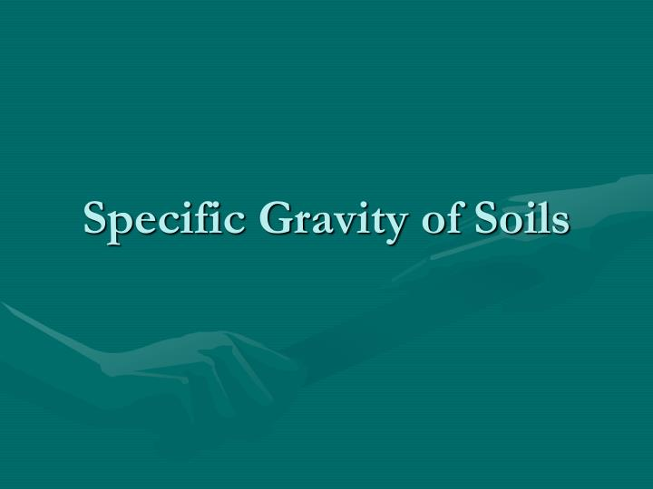 specific gravity of soils n.
