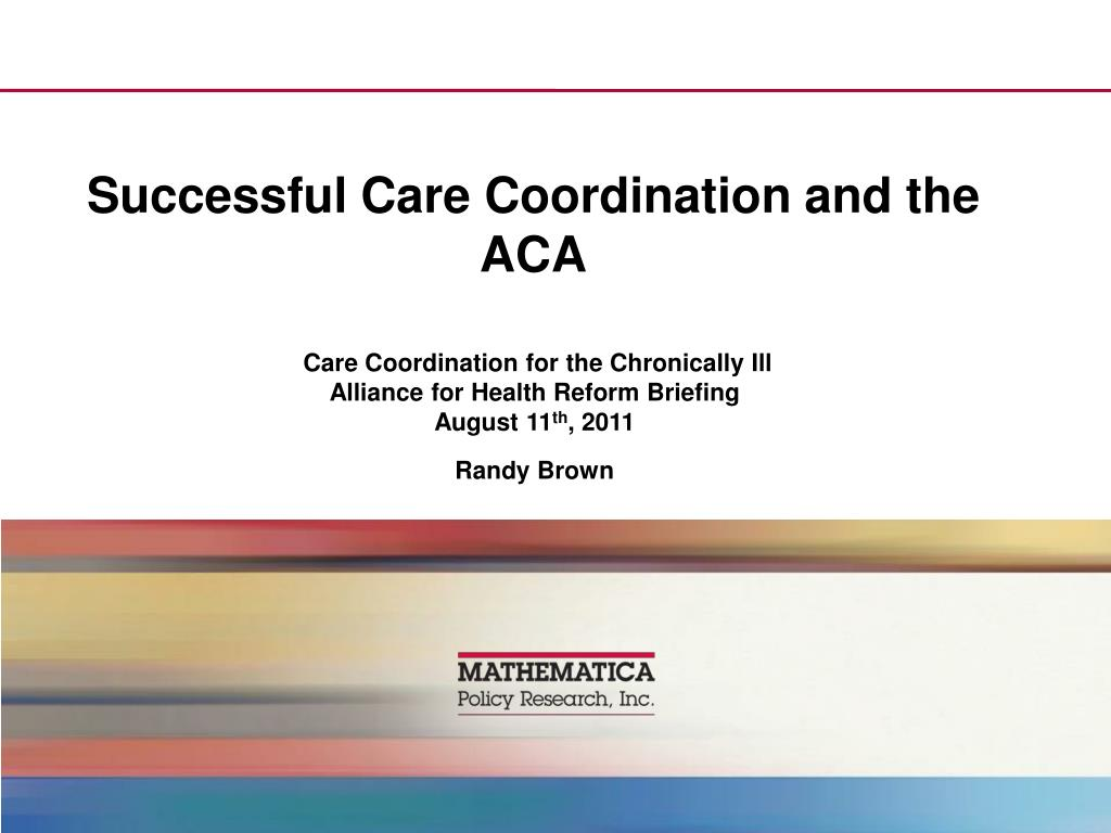 successful care coordination and the aca l.