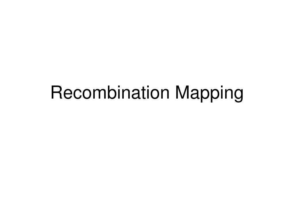 recombination mapping l.