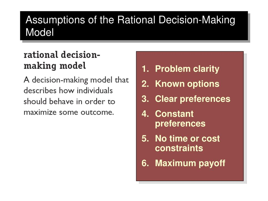 rational decision making is business organizations But decision making within organizations is only decision makers are rational analytical decision making aimed at improving business.