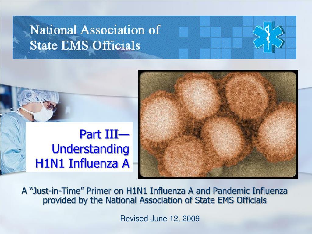 part iii understanding h1n1 influenza a l.